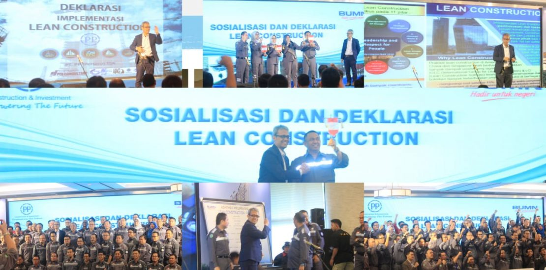 Deklarasi Lean Construction dengan PT. PP